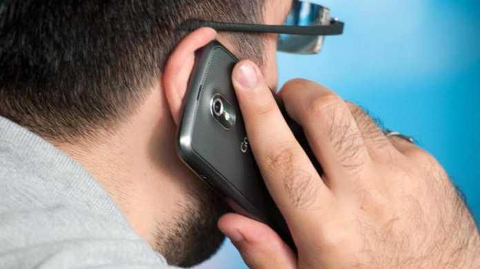 Telefonieren mit Smartphone