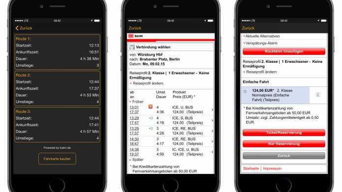Navigon-App erhält Bahnticket-Kaufoption