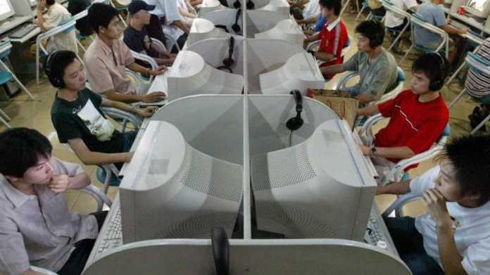 Internetcafé in Peking
