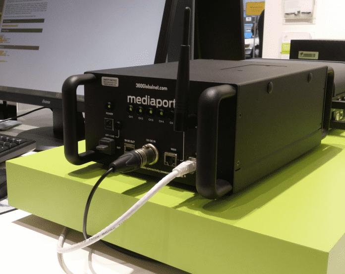 Den Mediaport vertreibt Viprinet zusammen mit einem britischen Anbieter als Router für Fernseh-Teams.