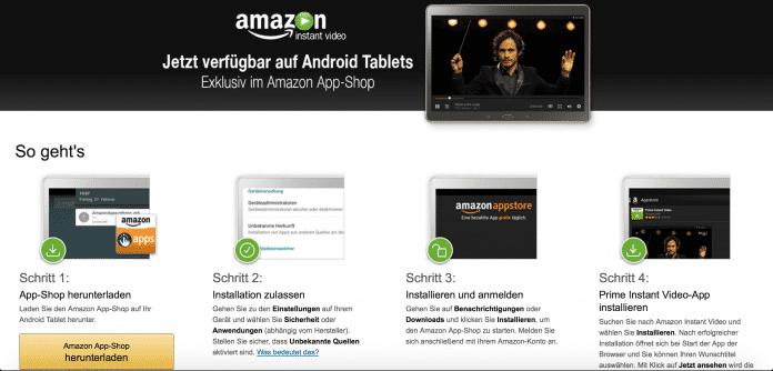 Amazon Prime Instant Video unterstützt nun auch Android-Tablets