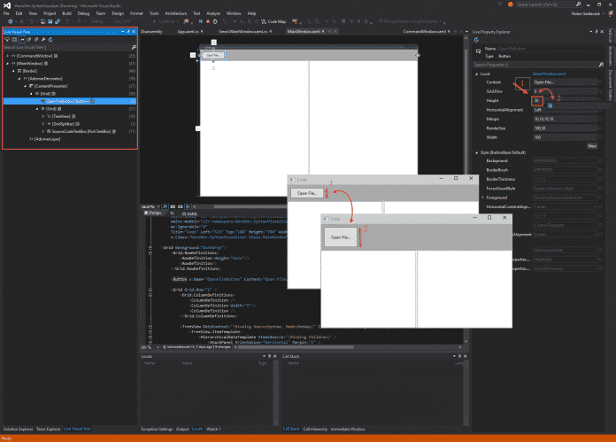 UI Debugging Tools für XAML