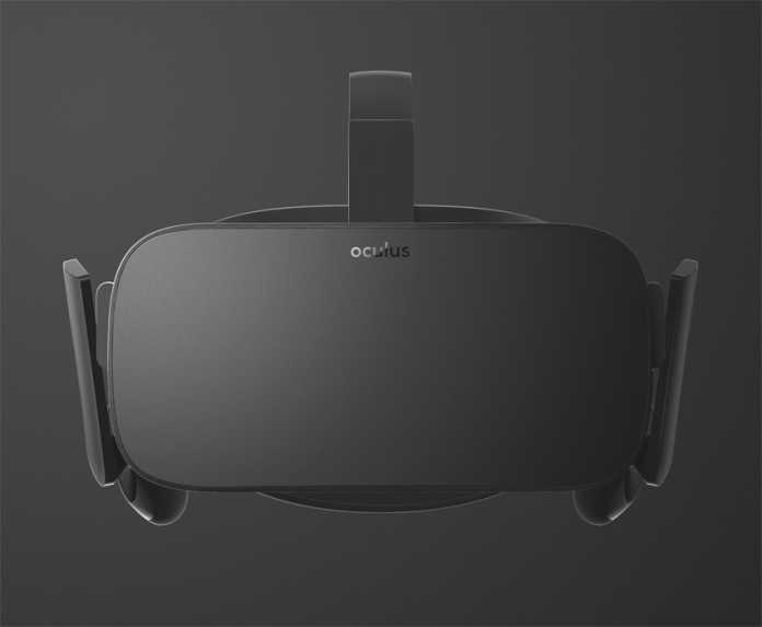 Viel erkennen kann man nicht, aber so soll die Consumer-Version der Oculus Rift von vorne aussehen.