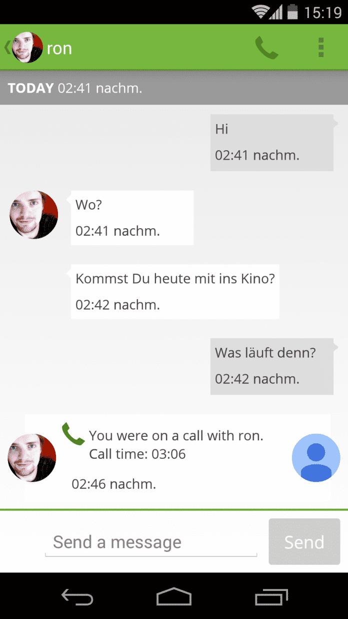 Bleep verschlüsselt Textnachrichten und Anrufe.