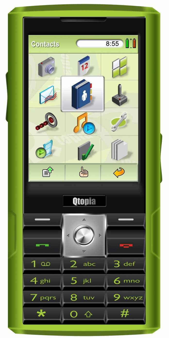 Qtopia Greenphone Vorderseite
