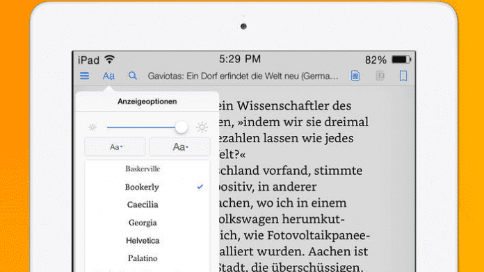 Kindle-App will Lesekomfort verbessern