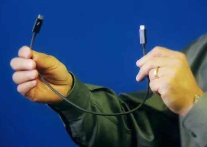 40 GBit/s über ein Kabel zu übertragen ist sportlich [--] vermutlich zeigt Intel deshalb nur sehr kurze Strippen.
