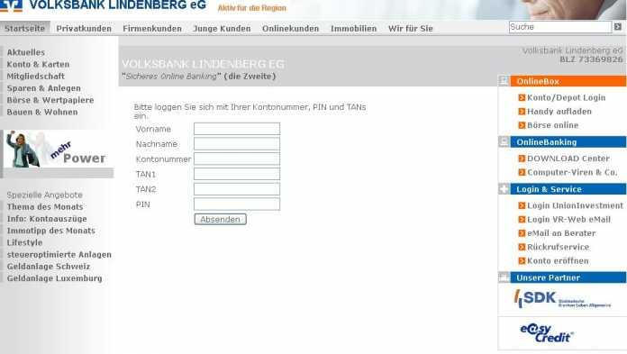 Volksbank-Phishing