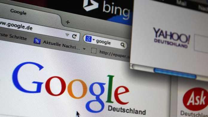 Suchmaschinen: Google, Yahoo und Ask