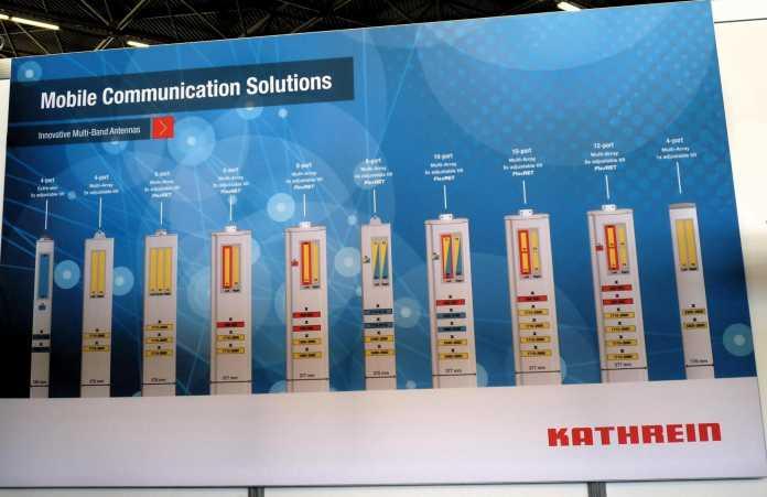 Einen Haufen Multiband-Antennen für verschiedene Konfigurationen der verschiedenen Frequenzbänder hat Kathrein inzwischen im Angebot.
