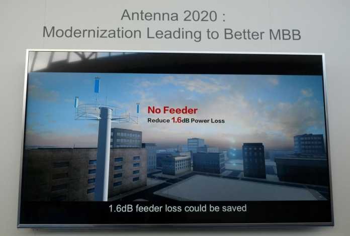 Huawei will dem Platzmangel mit einer Active Antenna Unit (AAU) begegnen.