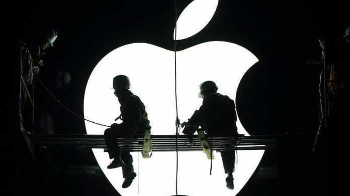Apple-Bauarbeiter