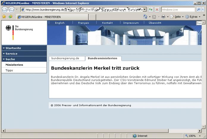 Cross-Site-Skripting-Lücke im Webauftritt der Bundesregierung