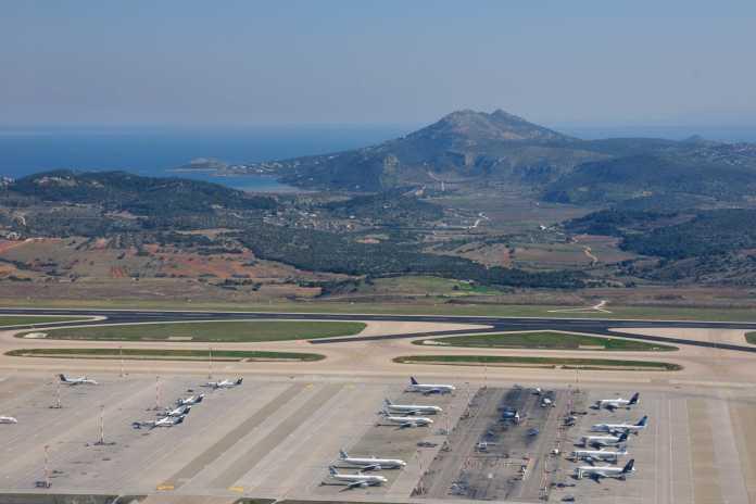 Vorfeld Flughafen Athen