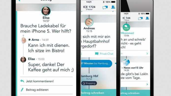 Zug-Messenger Lokin mit Anbindung an Bahn-Kundenservice