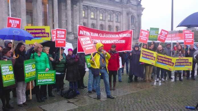 Protest gegen Vorratsdatenspeicherung: