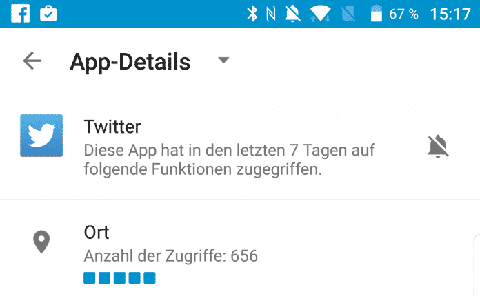 DTEK zeigt Apps an, die vielleicht etwas zu neugierig sind.