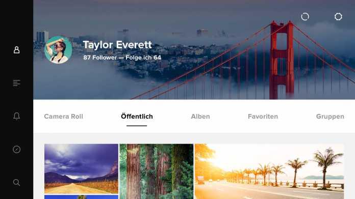 Flickr auf dem iPad