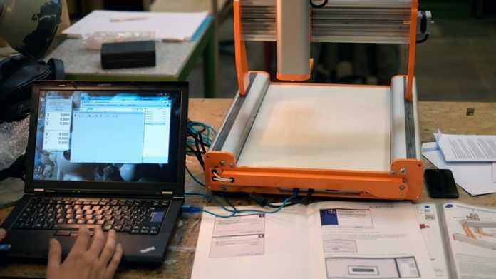 CNC-Fräsen-3D-Druck-Kombi aus dem Bausatz: Stepcraft-2/420
