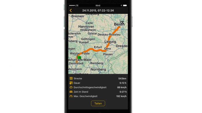 Navigon ergänzt Streckenaufzeichnung und GPX-Export