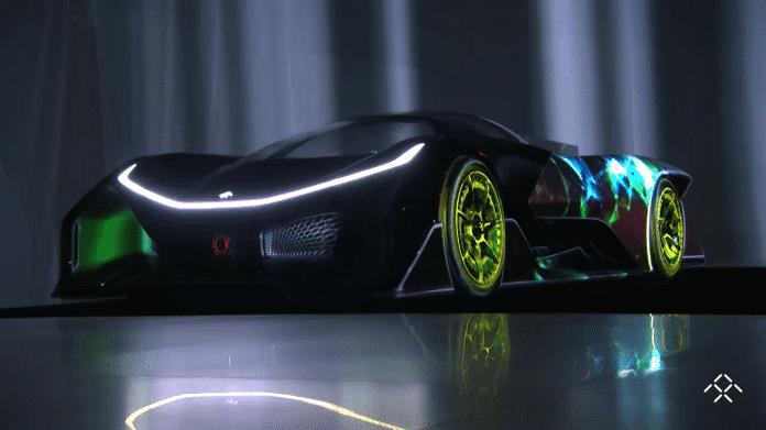 Schwarzer Sportwagen FFZERO1 Concept