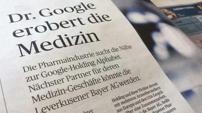 Google-Mutter Alphabet könnte mit Bayer kooperieren