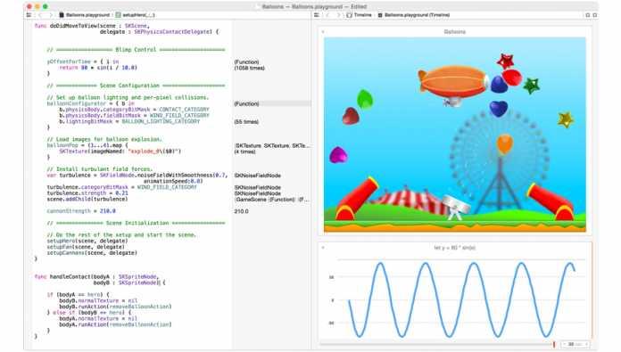Swift-Entwicklung mit Xcode.