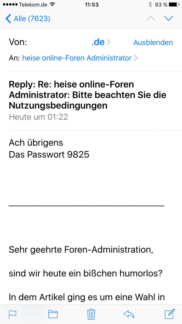 """Der Hinweis """"Ach übrigens, das Passwort:..."""" wirkt verblüffend echt."""
