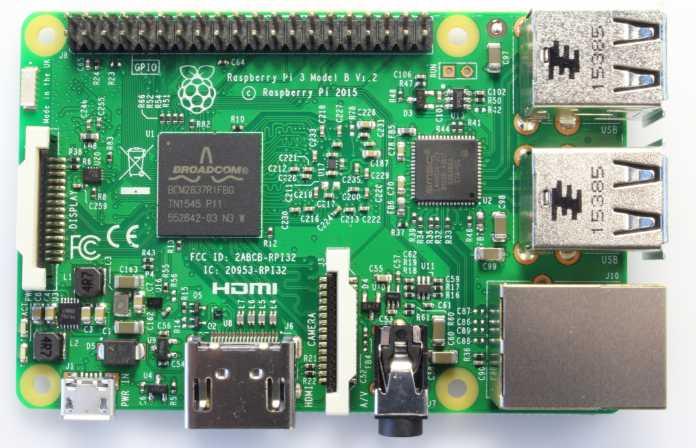 Raspberry Pi 3 von oben