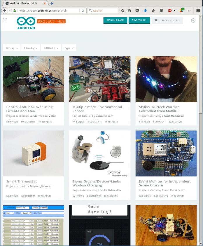 Arduino Create: die neue Online Tutorial, Coding und Sharing Plattform