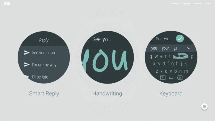 Mit Smart Reply können Nutzer per Tastatur, Handschrifterkennung oder mit Vorlagen direkt von Smartwatches auf Nachrichten antworten