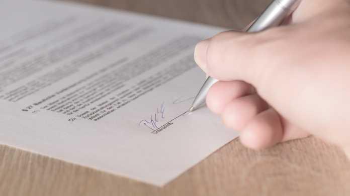 Unterschrift, Signatur, Vertrag