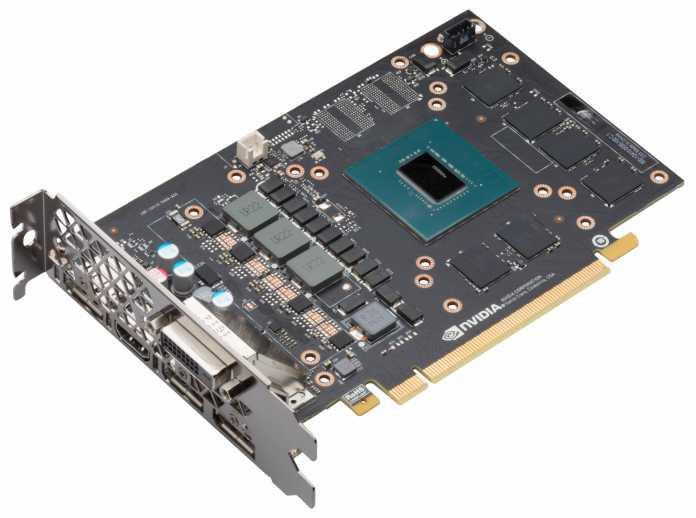 Ein Blick auf die nackte Platine der GeForce GTX 1060.