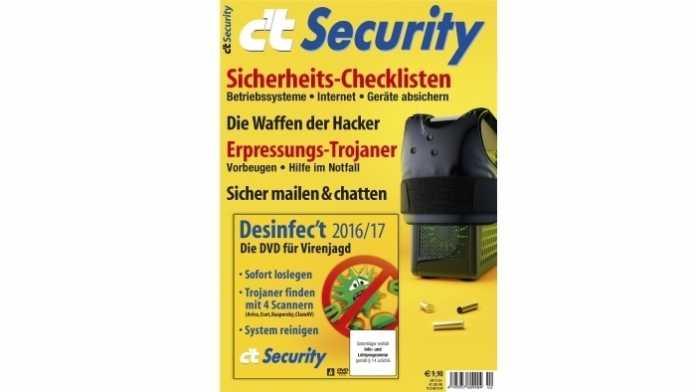 Sonderheft c't Security 2016 ab sofort vorbestellen
