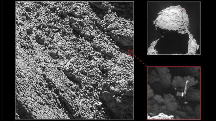 "Kamera findet Landeroboter ""Philae"" auf Kometen"
