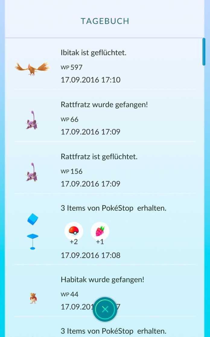 Trauerspiel: Bleibt ein vom Pokémon Go Plus gefangenes Monster nicht im Ball, flüchtet das Pokémon sofort.