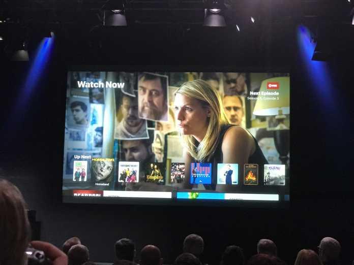 TV-App Ansicht Watch now mit Serie Homeland