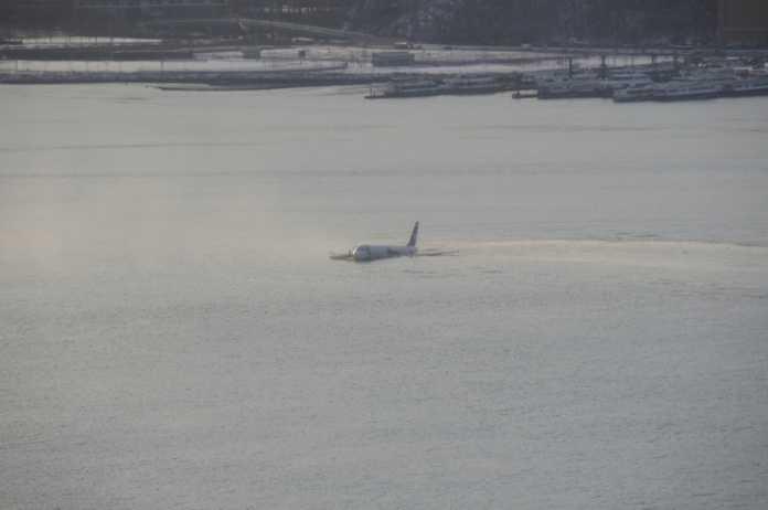 Flugzeug im Hudson