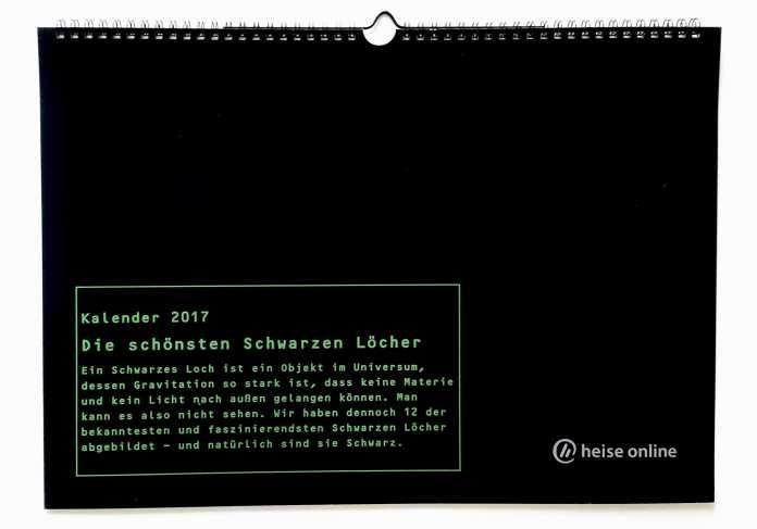 """Fotokalender """"Schwarze Löcher"""""""