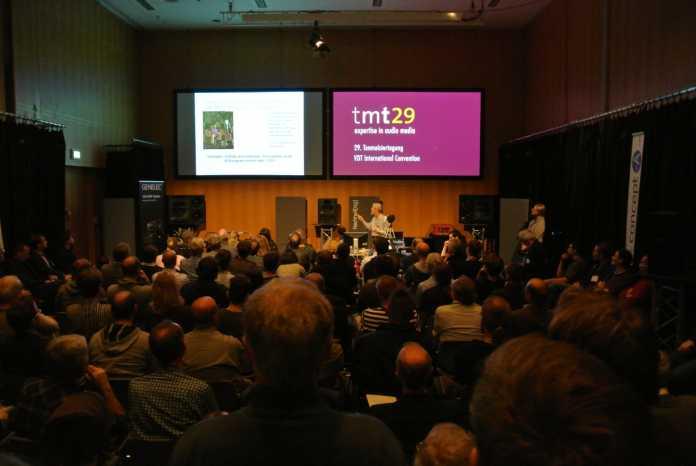Vor überfülltem Saal referierte David Griesinger auf der Tonmeistertagung in Köln.