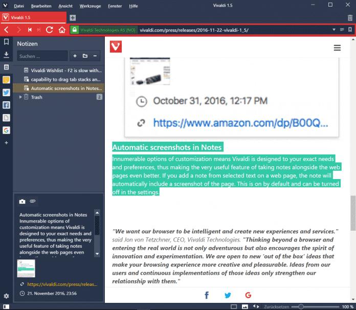 Browser Vivaldi steuert Hue-Lampen an