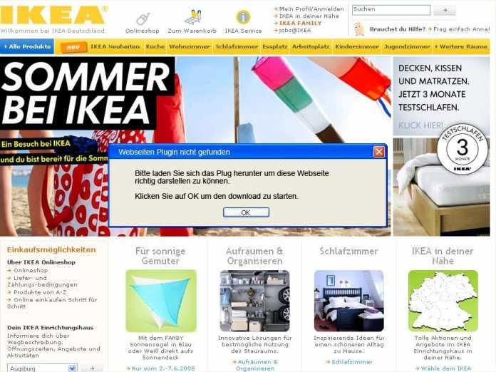 Ikea-Fake-Webseite