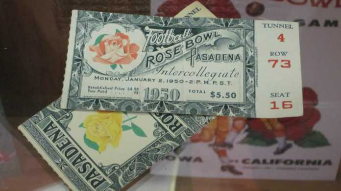 2 Rose Bowl Tickets 1950