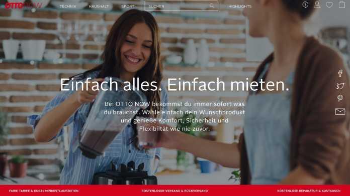 Otto Now: Elektro- und Haushaltsgeräte mieten statt kaufen