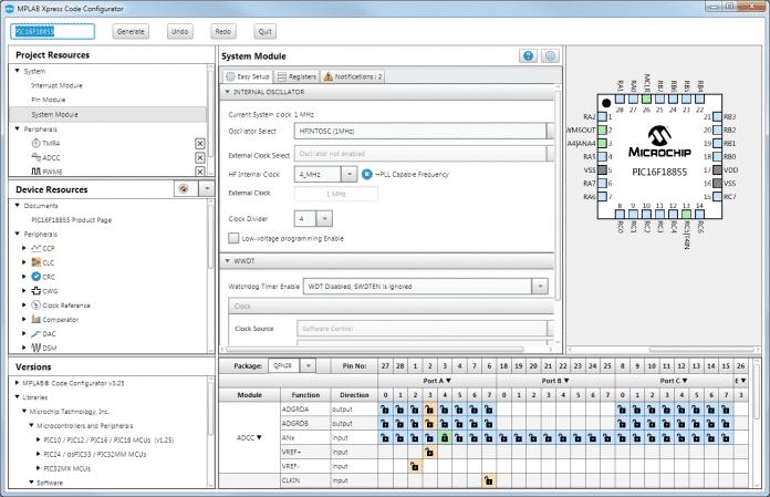 MPLAB Xpress Code Configurator