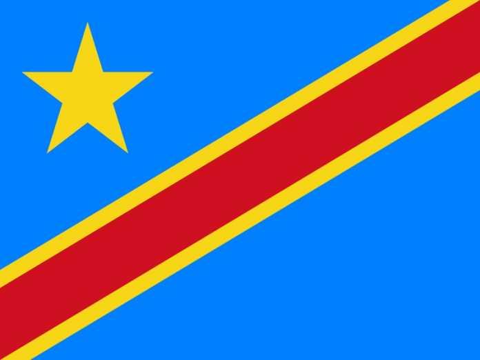 Fahne DR Kongo