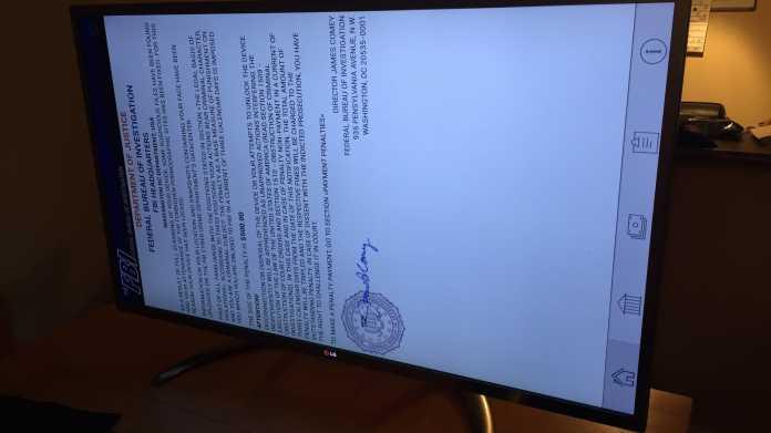 Erpresser-Botschaft in Dauerschleife: Smart TV von LG mit Ransomware infiziert