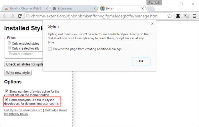 Browser-Add-On Stylish lässt Nutzerdaten sammeln