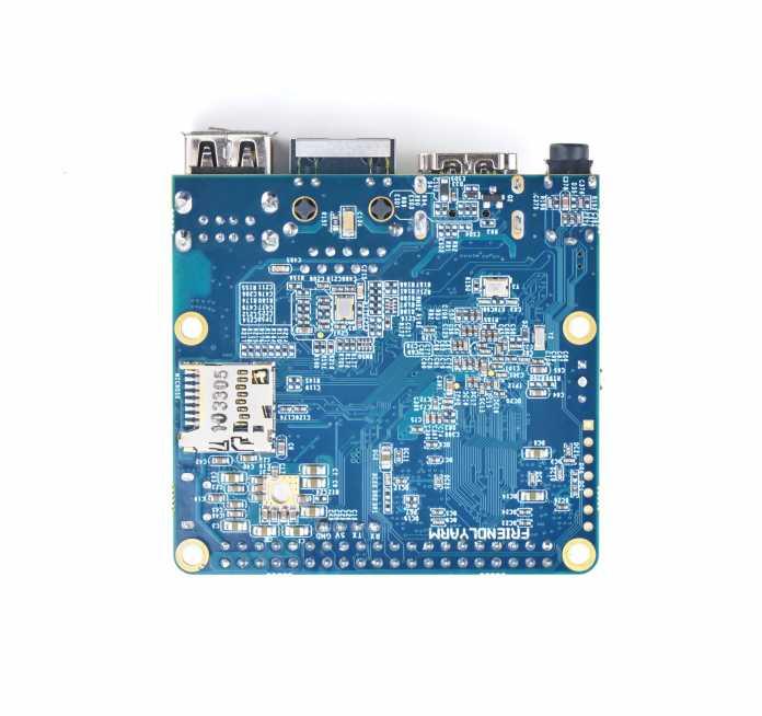 Die Unterseite des FriendlyARM NanoPi A64